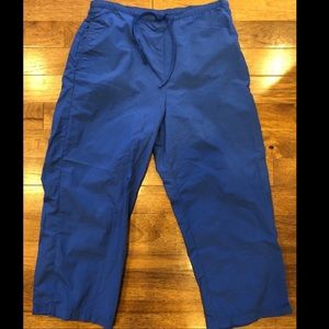 L.L. Bean Blue Swishy Scrub Pants